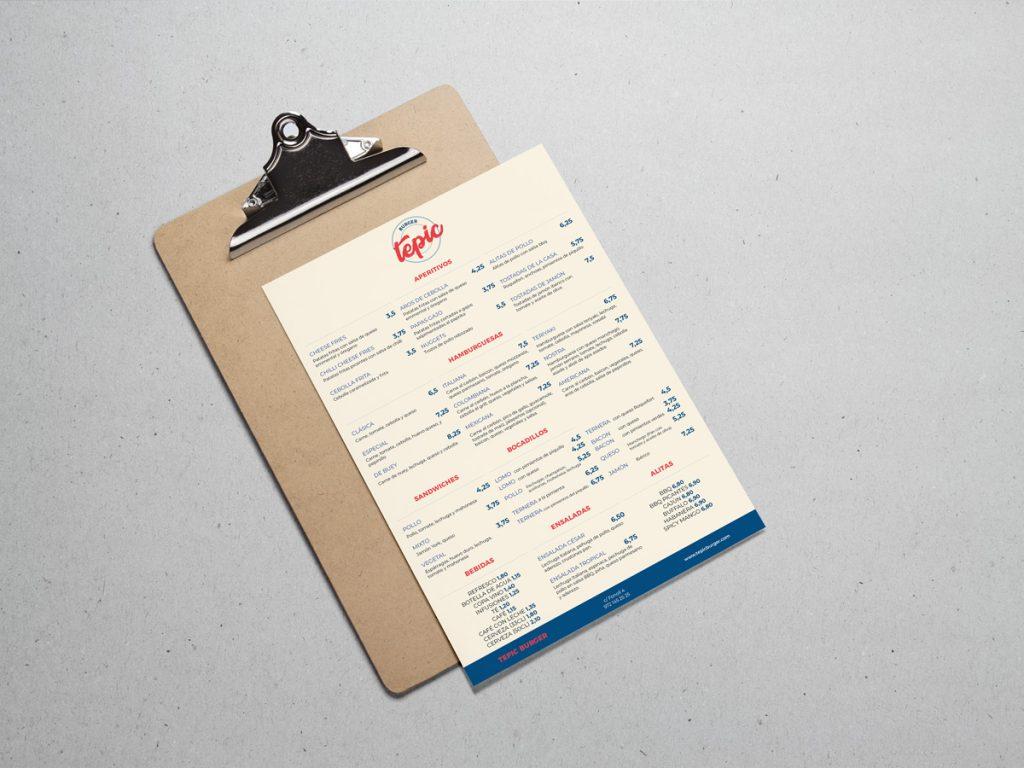 Carta hamburgueseria